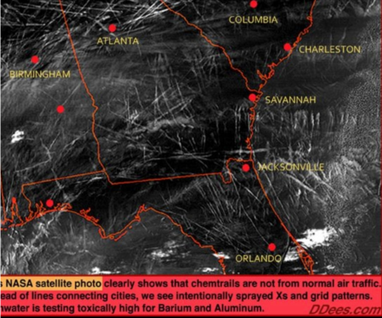 ddees.com Satellite - Aerosol Spraying over the US